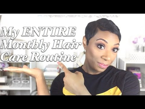 My Hair Care Routine 2016 | Short Relaxed Hair
