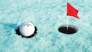 EXTREME GOLF ON ICE! (Golf Minigame)