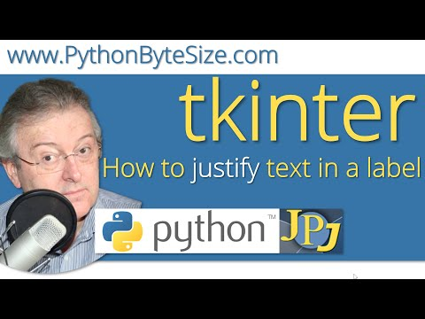 How to justify text in a Python tkinter label