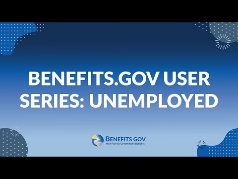 Benefits.gov User Series: Unemployed