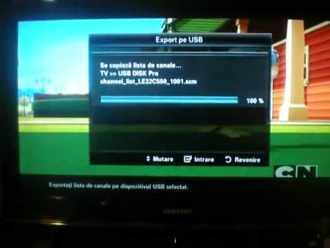 Samsung TV export channel list
