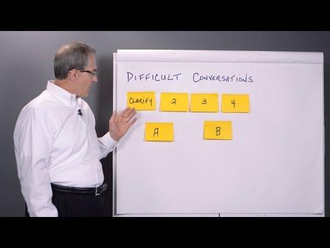4 Step Difficult Conversations Process