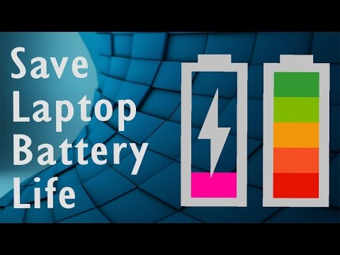 Tips on how to increase and save battery life on a Laptop