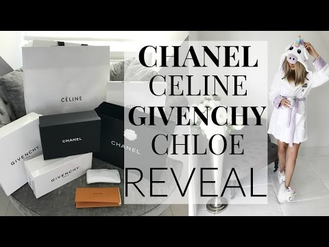 CHANEL, GIVENCHY, CELINE & CHLOE REVEAL | LUXURY HAUL | IAM CHOUQUETTE