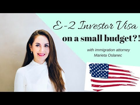 E2 Investor Visa with Small Budget?!🇺🇸🤔