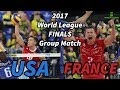 USA Vs France 2017 World League FINALS ALL BREAKS REMOVED