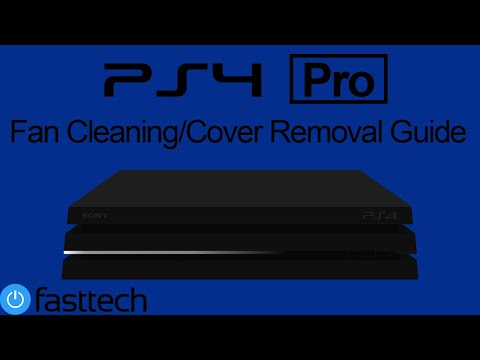 How to clean PS4 Pro fan and remove top cover