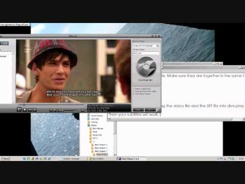 How to use .SRT files with DivX Player & VLC Media Player