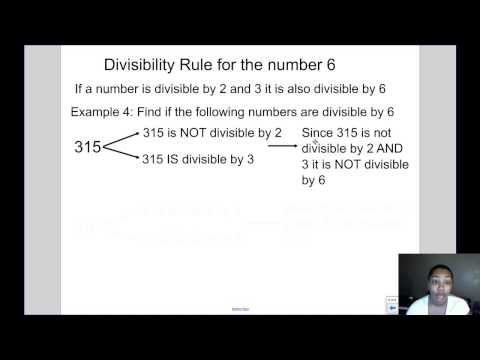Mrs Kingsberry- Divisibility Rules