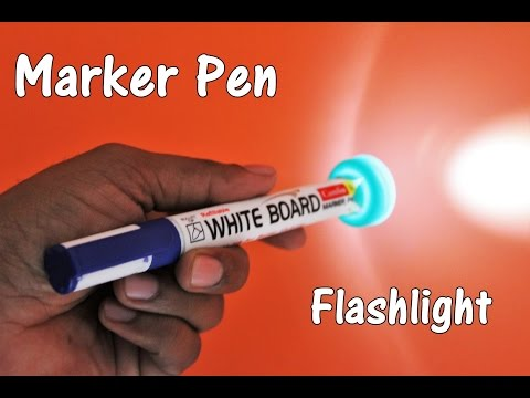 How to Make a Flashlight/Torch using Marker Pen - EASY