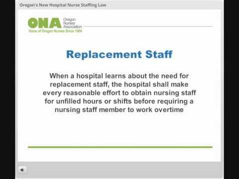 ONA Webinar: Oregon's New Hospital Nurse Staffing Law