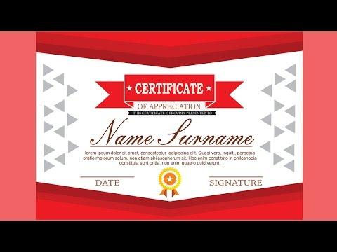 Premium Certificate Design Part.1