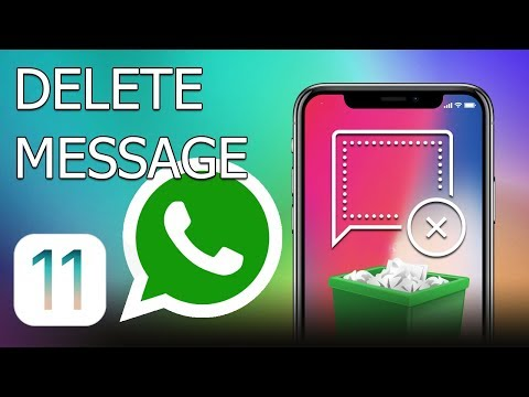 How to delete WhatsApp message on iPhone