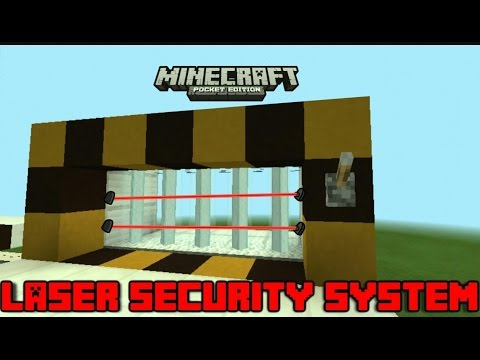 How to make a working LASER DOOR IN MINECRAFT POCKET EDITION !! [ NO MODS ]!!