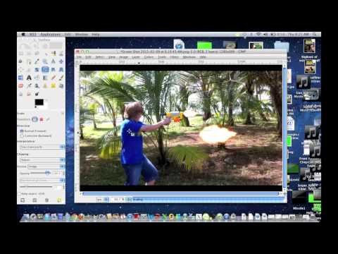 How to make a realistic muzzle flash on imovie