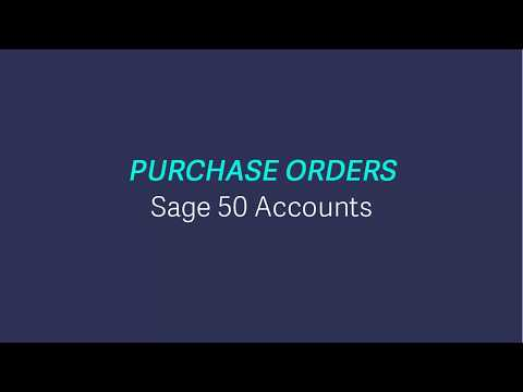 Sage 50 Accounts (UK) - Purchase orders