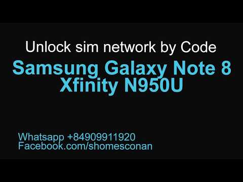 Unlock Samsung Galaxy Note 8 Xfinity N950U USA permanently