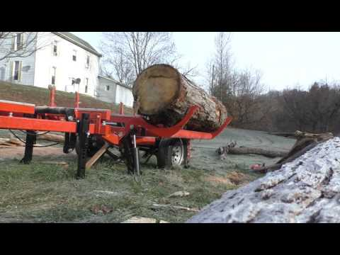 Woodmizer LT35 video: cutting quartersawn white oak