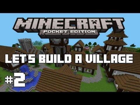 Minecraft PE : Let's Build A Village #2 - Blacksmith