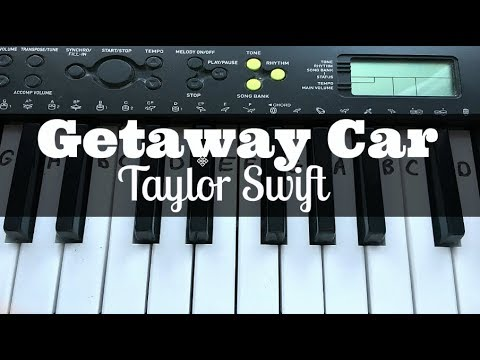 Getaway Car - Taylor Swift | Easy Keyboard Tutorial With Notes (Right Hand)
