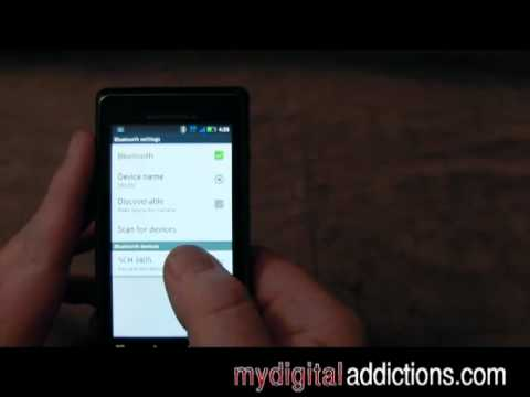 Motorola Droid 2 - Using Bluetooth