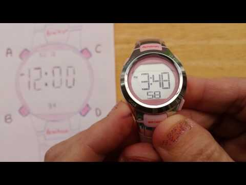 Armitron 4 Button Digital Sports Watch - Set Time and Date (Also, most Timex 4-Button Watches)