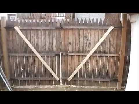 How to repair a Sagging Gate Door