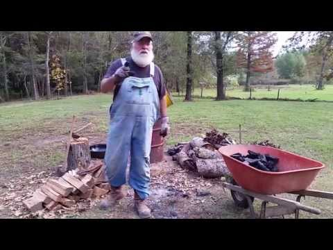 How to Make Charcoal with a Burn Barrel. EASY DIY