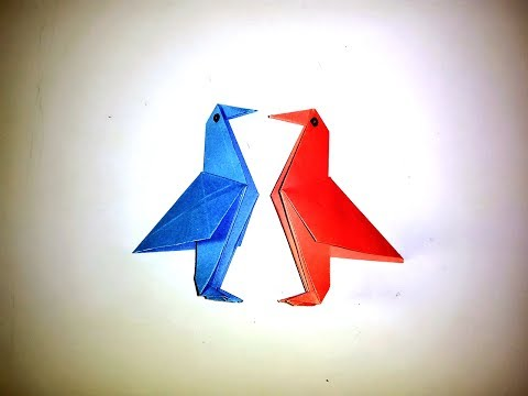 Origami Paper Bird/ How to Make a Simple Paper Bird - Easy Tutorials. By: AB Art & Craft School