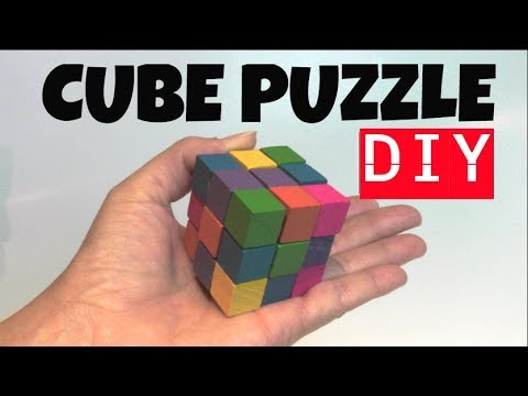 DIY FIDGET TOY PUZZLES FOR KIDS- HOW TO MAKE A WOODEN SOMA CUBE PUZZLE STIM TOY- DIY FIDGET TOYS