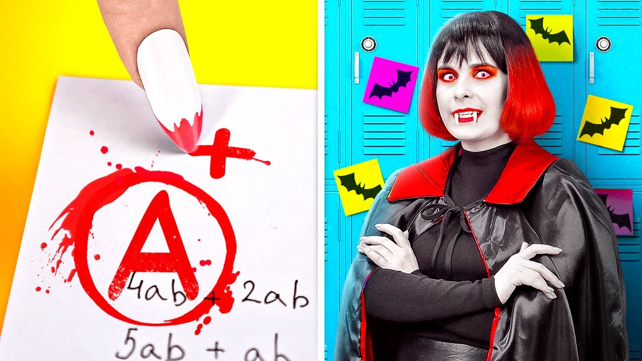 OMG! VAMPIRE AT SCHOOL!    Coolest Challenge And Crazy Pranks! Rich VS Poor Vampire By 123GO! BOYS