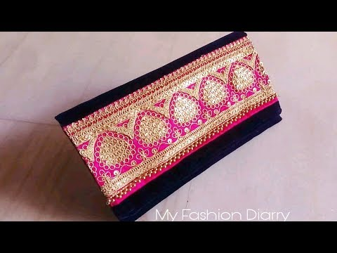 How to make beuatifull purse from left fabric.DIY