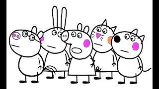 malvorlagen peppa wutz lustig - kinder zeichnen und ausmalen