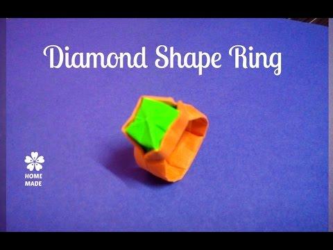 Diamond Ring Origami   Easy Method