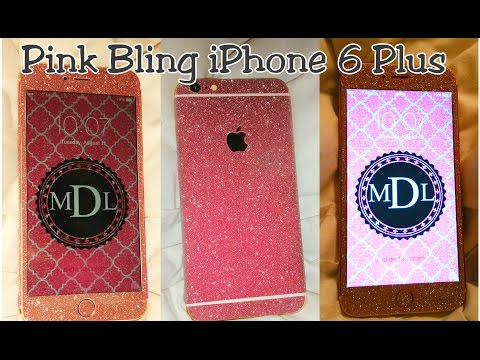 IPhone 6 Plus Pink Bling Diamond Full Body Decal