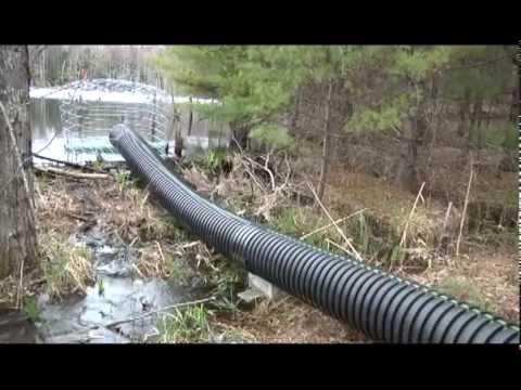 Timelapse of Beaver Pond Pond Leveler Installation