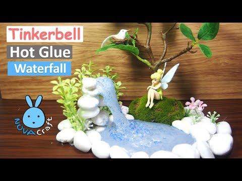 Hot Glue Waterfall Tutorial Tinkerbell Real Life | Hot Glue DIY Life Hacks for Crafting Art #001