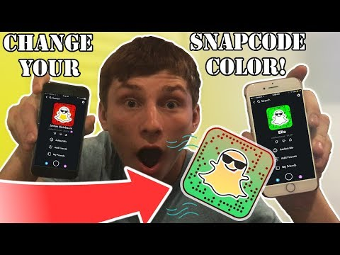 Snapchat: How To Change Your SnapCode Color/Ghost With Just Your iPhone!