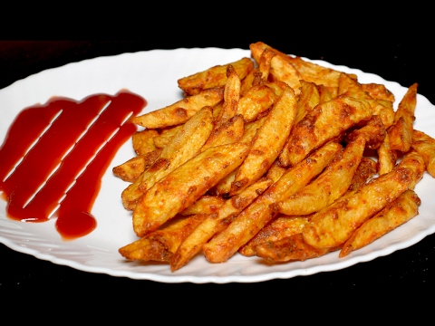Masala French Fries Recipe - Crispy Potato Finger Chips - Tea Time Recipe