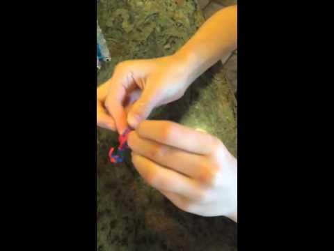 Rainbow Loom Bow-tie (for hair)
