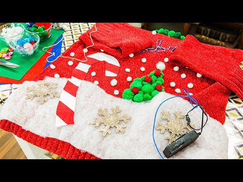 How To - DIY Light Up Ugly Christmas Sweaters – Home & Family