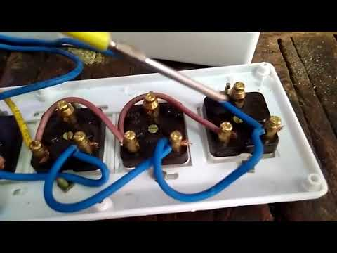 how to make a extension board three socket and one switch