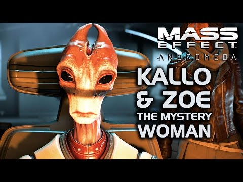 Mass Effect Andromeda - Kallo & Zoe the Mystery Woman (All Conversations)