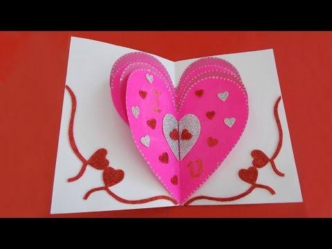 Valentines Day Heart Card: Valentine's Day Pop-up Card Tutorial for Girlfriend/Boyfriend