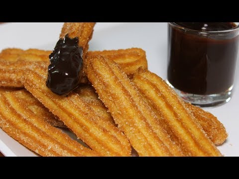 Eggless Churros Easy Recipe | Churros With Chocolate Sauce | How to make Churros | Kanak's Kitchen