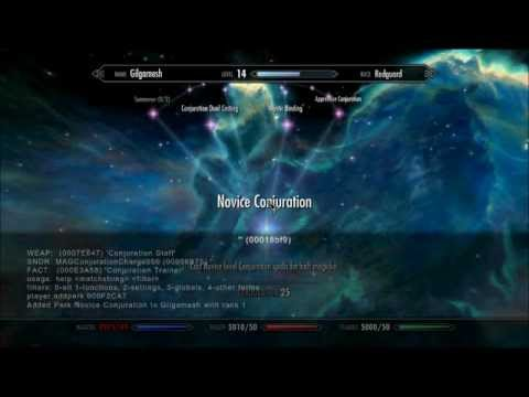 TES Skyrim **Console Tutorial Unlimited Gold, Items, Skills Perks**