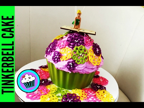SIMPLE Giant Tinkerbell Cupcake | Pinch of Luck