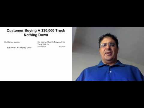 Bad Credit Commercial Truck Financing - High Payments But Higher Net