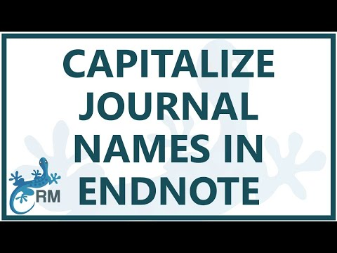 Endnote: capitalize journal names