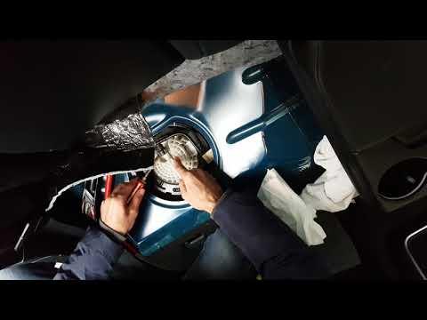 How to change fuel filter on Chrysler 300 limited 2015  كيفية تبديل فلتر بنزين دودج و كرايسلر
